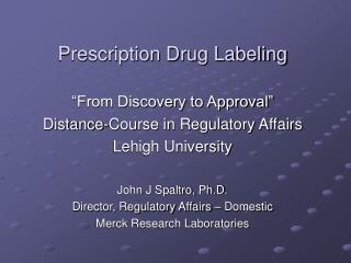 Prescription Drug Labeling