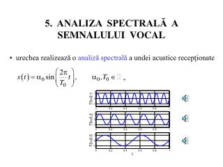 5.  ANALIZA  SPECTRAL?  A SEMNALULUI  VOCAL