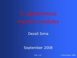 Dezső  Sima September 2008