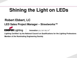Shining the Light on LEDs