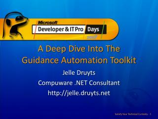 A Deep Dive Into The Guidance Automation Toolkit
