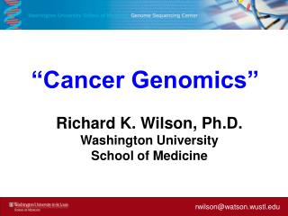 """Cancer Genomics"""