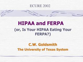 HIPAA and FERPA