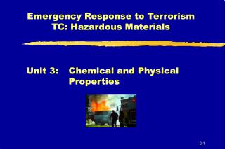 Emergency Response to Terrorism TC: Hazardous Materials