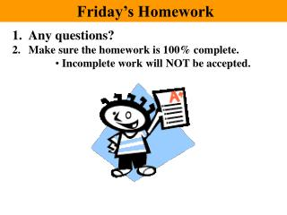 Friday's Homework