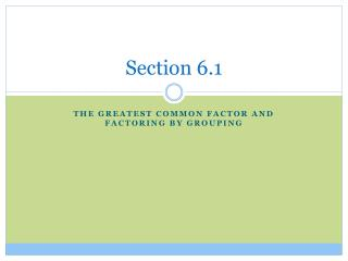 Section 6.1
