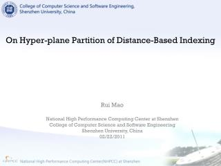 On Hyper-plane Partition of Distance-Based Indexing