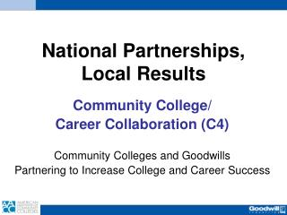 National Partnerships, Local Results