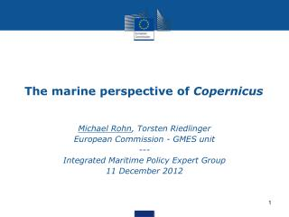 The marine perspective of  Copernicus