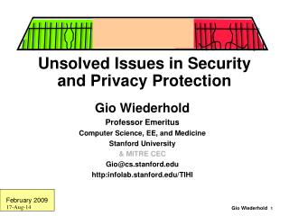Unsolved Issues in Security and Privacy Protection