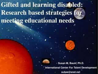 Gifted and learning disabled: Research based strategies for meeting educational needs