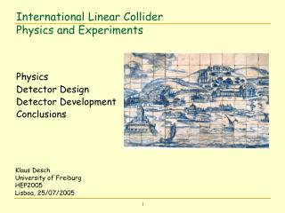International Linear Collider  Physics and Experiments