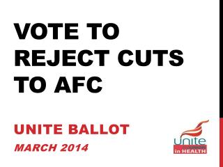 Vote to REJECT Cuts to AFC