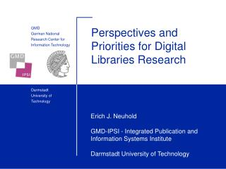 Perspectives and Priorities for Digital Libraries Research