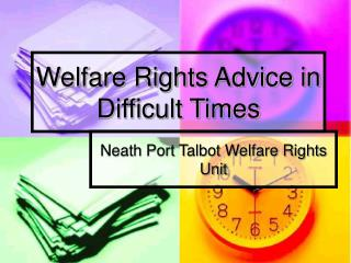 Welfare Rights Advice in Difficult Times