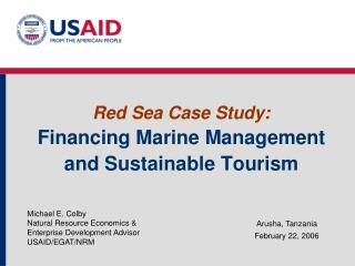 Red Sea Case Study:  Financing Marine Management and Sustainable Tourism