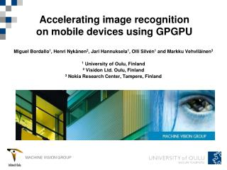 Accelerating image recognition on mobile devices using GPGPU