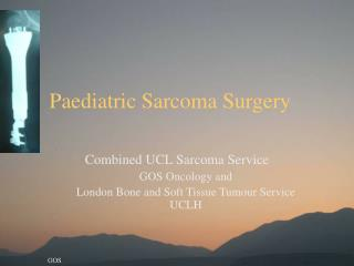 Paediatric Sarcoma Surgery