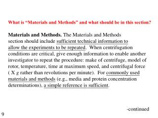 "What is ""Materials and Methods"" and what should be in this section?"