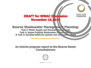 An interim progress report to the Bourne Sewer Commissioners