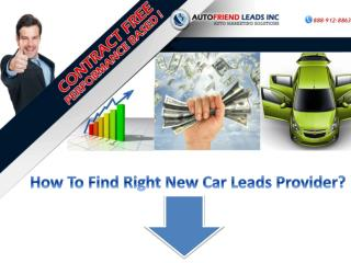 How To Find New Car Leads Provider