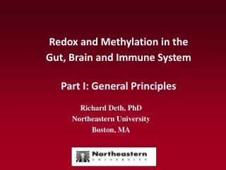 Redox and Methylation in the  Gut, Brain and Immune System Part I: General Principles