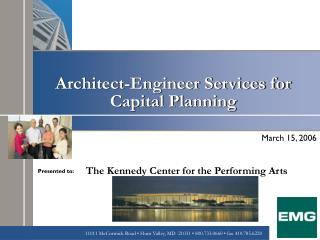 Architect-Engineer Services for Capital Planning