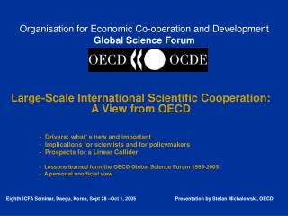 Organisation for Economic Co-operation and Development Global Science Forum