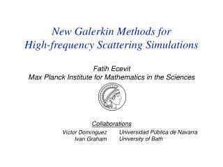 Fatih Ecevit Max Planck Institute for Mathematics in the Sciences