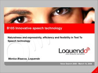 B105 Innovative speech technology