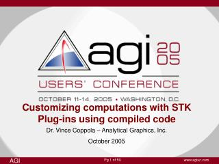 Customizing computations with STK Plug-ins using compiled code