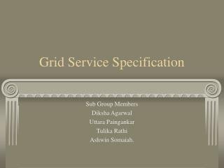 Grid Service Specification