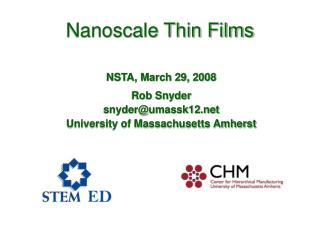 Nanoscale Thin Films