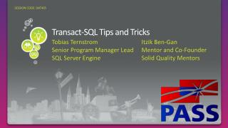 Transact-SQL Tips and Tricks