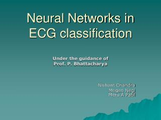 Neural Networks in ECG classification