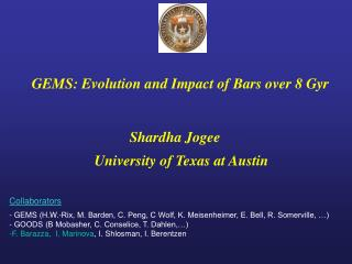 GEMS: Evolution and Impact of Bars over 8 Gyr