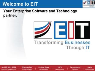 Your Enterprise Software and Technology partner.