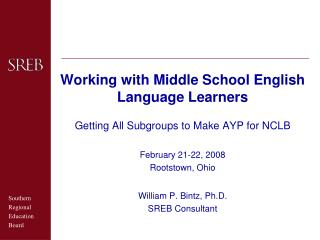 Working with Middle School English Language Learners