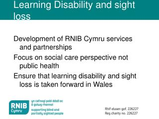 Learning Disability and sight loss