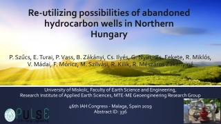 Re-utilizing possibilities of abandoned hydrocarbon wells in Northern Hungary