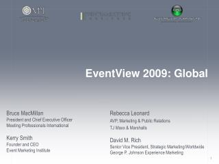 EventView 2009: Global