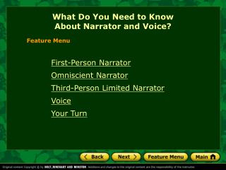What Do You Need to Know  About Narrator and Voice?