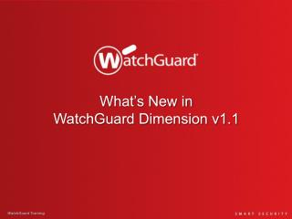 What's New in WatchGuard Dimension v1.1