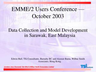 EMME/2 Users Conference — October 2003
