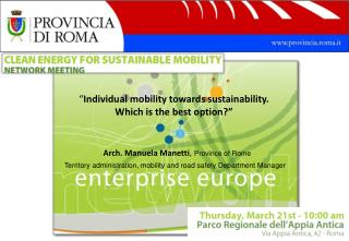 """ Individual mobility towards sustainability.  Which is the best option?"""