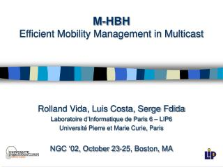 M-HBH Efficient Mobility Management in Multicast