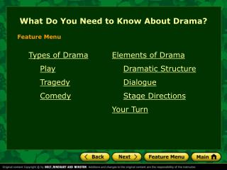 What Do You Need to Know About Drama?