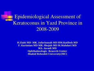 Examination of Eye Examination of Anterior Segment Part - II