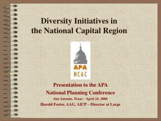 Diversity Initiatives in the National Capital Region