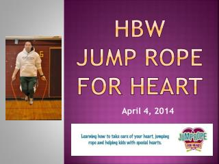 HBW Jump Rope for Heart